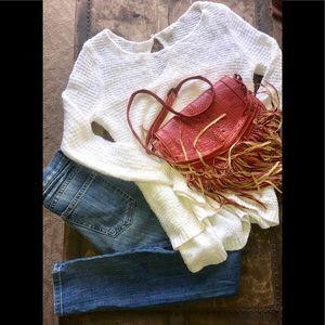 CURRENT/ELLIOTT Jeans, +HiNGE sweater, +purse